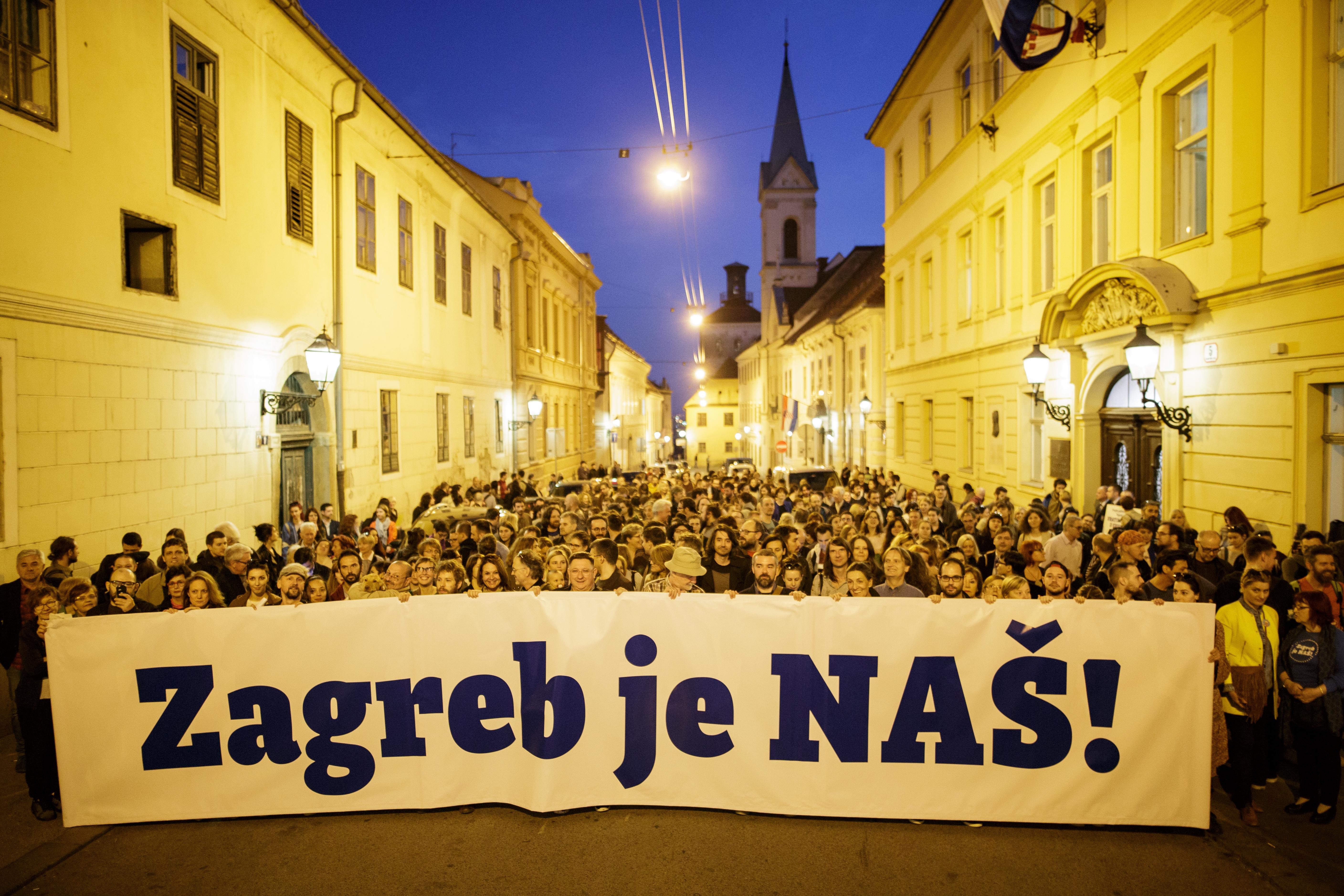 "400 ljudi na prvom javnom okupljanju platforme ""Zagreb je NAŠ!"": Vratimo Zagreb u svoje ruke"