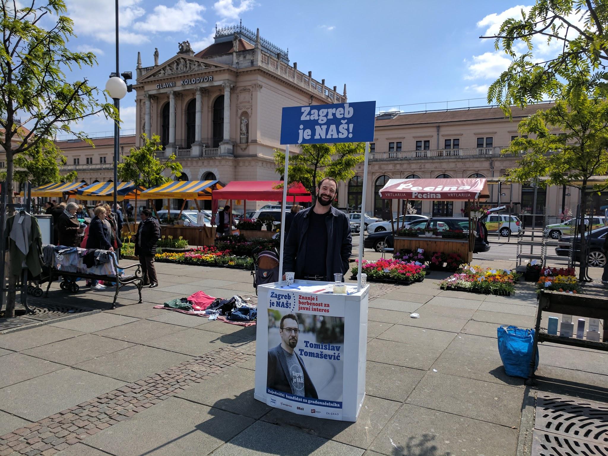 Prikupljamo potpise za gradonačelničkog kandidata Tomislava Tomaševića