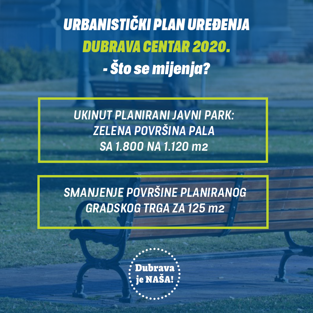 Urbanistički plan uređenja Dubrava – centar